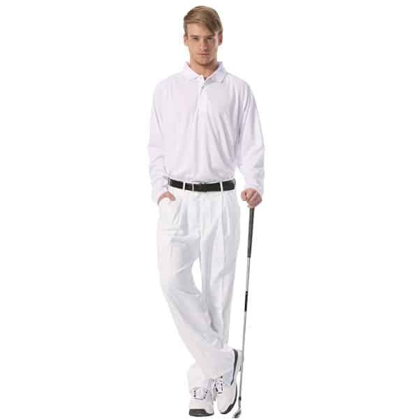 Men's Boast Tek Long Sleeve Polo w/ Logo The Tennis Loft Nantucket