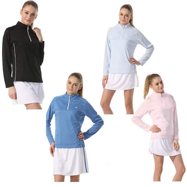 Ladies Boast Tek w/ Logo - Mock Half-Zip Long Sleeve The Tennis Loft Nantucket